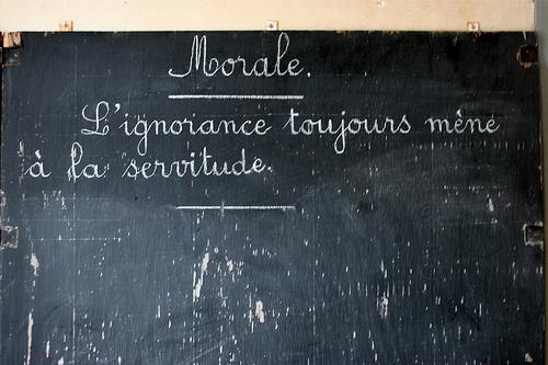 « L'Enseignement de l'ignorance » face à la réalité scolaire française