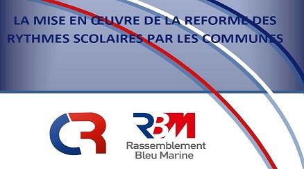 Brochure sur l'application de la réforme des rythmes scolaires par les communes