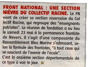 Collectif Racine Nièvre - JDC 31 mai 2015