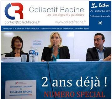 « La Lettre » du Collectif Racine (n°7 | septembre 2015)