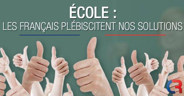 Ecole : les français plébiscitent nos solutions