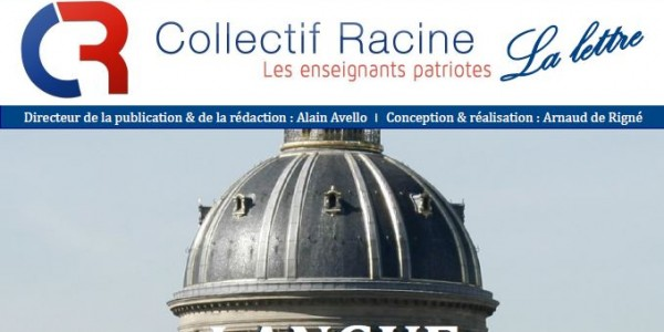 « La Lettre » du Collectif Racine (n°9  mars 2016)
