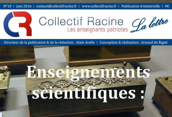 « La Lettre » du Collectif Racine (n°10 | juin 2016)