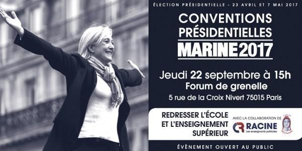 CONVENTION PRESIDENTIELLE, EN PRESENCE DE MARINE LE PEN