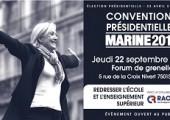 Convention présidentielle, en présence de Marine Le Pen
