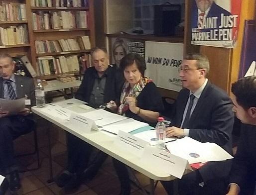 Conférence des sections IDF du Collectif Racine (Paris, 21 janvier 2017)