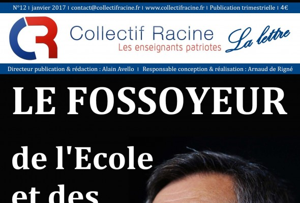 « La Lettre » du Collectif Racine (n°12 | janvier 2017)