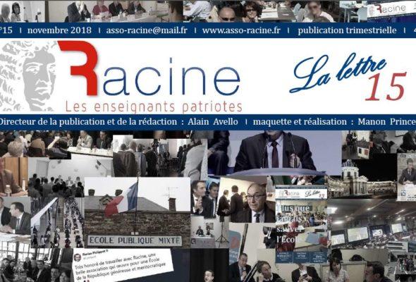 « La Lettre » de Racine (n°15 | novembre 2018) (32 pages)