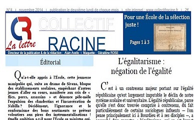 « La Lettre » du Collectif Racine (n°4 | novembre 2014)
