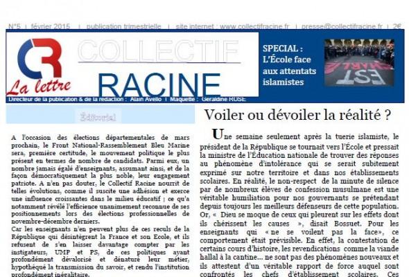 « La Lettre » du Collectif Racine (n°5   février 2015)
