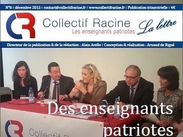 « La Lettre » du Collectif Racine (n°8 | décembre 2015)