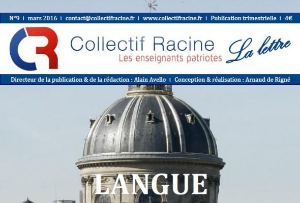 « La Lettre » du Collectif Racine (n°9 | mars 2016)